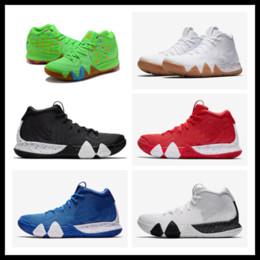 Comprar sapatos de dedos on-line-Comprar kyrie IV encantos de sorte verde sobre as vendas Top Quality new Irving 4 saltos de basquete frete grátis US7-US12