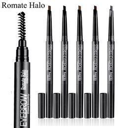 2019 lápiz corrector impermeable 5 colores Maquillaje resaltador Impermeable para cejas potenciador marrón gris color lápiz de cejas lápiz de maquillaje de larga duración Kit de maquillaje de larga duración