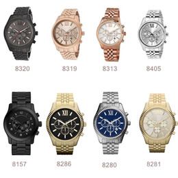 multicolor watches Promo Codes - Lexington Chronograph Gold-tone Black Dial Mens Watch 8280 8281 8286 8313 8319 8320 8405 with box and certification