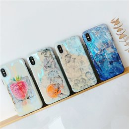 Wholesale Ice Blue Iphone Case - New Arrive Summer Cool style Ice Cubes Pattern Fashion Blu-ray Soft Cover TPU Phone Cases For iPhone X 8 7 6 Plus
