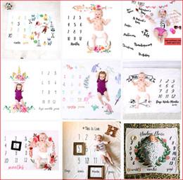 20 tipi di coperte di pietra miliare del bambino neonato fotografia di sfondo puntelli foto fondali per bambini neonato lettera fiore unicorno coperte da