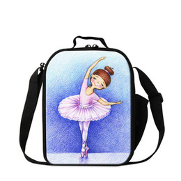2019 cajas de almuerzo aisladas rosadas Cute Ballet Shoes Lunch Bag para niñas Small Pink Cooler Bags para niños escolares Pretty Pretty Lunch Lunch Bags Kids Food Lunch Sack Box cajas de almuerzo aisladas rosadas baratos
