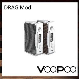Wholesale Fire Carbon - VooPoo DRAG 157W TC Mod Carbon Fiber Design Custom-made Gene Chip Contributes 0.025S Firing Time 0.91 Inch OLED Display Screen 100% Original