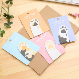 Wholesale Cute Cat Bookmarks - Sticky Notes Post It Bookmark Creative Cute Cat Claw Memo Pad For Kid Stationery Gift Multi Color 0 55dt C R