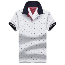 men collar polo style Coupons - New Brand Polos Mens Printed POLO Shirts Cotton Short Sleeve Camisas Polo Casual Stand Collar Male Polo Shirt