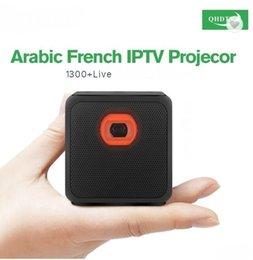 m5 mobili Sconti Nuovo arrivo Pico Mobile Proiettore DLP M5 50 ANSI Proiettore tascabile leggero con abbonamento IPTV arabo QHDTV 1 anno