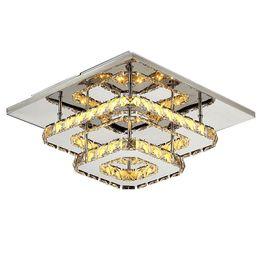 Wholesale control surfaces - modern crystal led ceiling lights bedroom living room plafond lamp kristal design light fixtures Lustre Luminarias