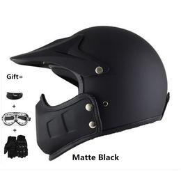 Casco goggles on-line-Capacetes da motocicleta máscara integrada óculos de diabo gráficos es casco abrir face helemt para escalada fora ciclismo
