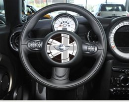 mini cooper grátis Desconto Personalizado Volante Adesivo para Mini Cooper Inglaterra o Reino Unido Arroz Bandeira Adesivo de Carro Interior Decalque Epacket livre
