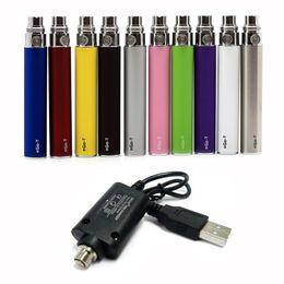 Batteria eGo-T con caricabatterie USB Batterie eGo T Cavi USB 650mAh 900mAh 1100mAh E Sigaretta Vape Pen Classic Popular Vaporizzatore da cera penna vape all'ingrosso personalizzato fornitori