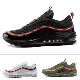 Wholesale Max Men Running Shoes - Wholesale Top Quality 97 OG X Undftd Sneaker Men's Running Shoes Women's Trainers Sport Footwear Black White Athletic Sneakers Maxes 36-46