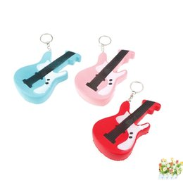Wholesale Guitar Kid - Simulation PU Foam Phone Charm Anti Stress Guitar Shape Squishies With Metal Keychain Squishy Three Colors 7 5hz BR