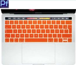 langue française Promotion Français Lettre Langue AZERTY Silicone Clavier Peau de Couverture Pour MacBook Nouveau Pro 13 A1706 et Pro 15 A1707 2017 Avec TouchBar