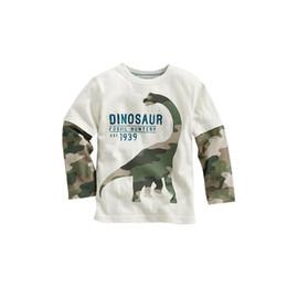 dinossauros velhos Desconto Dinossauro dos desenhos animados Meninos Camisa de Manga Longa T Para 1-4 Anos de Idade de Algodão Crianças Meninos Crianças Tops Tees T Camisa Primavera Outono
