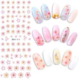 Wholesale Fantasy Decals - 100 pcs Gradient Nail Sticker Fantasy Flower Sticker Decals Water Tranfer Nail Art Manicure Accessories For Nails