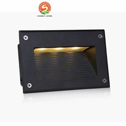 Wholesale Outdoor Led Recessed Light - New Recessed Led Floor Lights 3W 5W Stair Lighting Led Step Light Waterproof Outdoor Recessed Wall Lamp Lights 110-130lm W SMD5730
