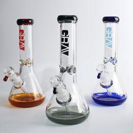 Tazones de elefante online-Tubería de agua de 9 mm de vidrio bong vaso de agua tubos de elefante bongs de colores con un tazón grande para fumar narguiles