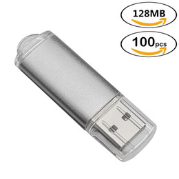 silver memory stick Canada - Free Shipping 100PCS LOT 128MB USB Flash Drive Pen Drive Rectangle High Speed Thumb Memory Stick Storage for Computer Laptop Macbook Silver