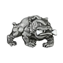 Wholesale pewter belt - Awsome Bulldog English Pewter Finish Belt Buckle