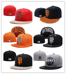 Wholesale giant animals - Top Selling Cheap Giants Fitted Hats Baseball Cap Flat-brim Hat Team Size Baseball Cap Giants Classic Retro Fashion