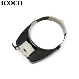 colored glasses lenses Coupons - ICOCO LED Light Headband Jewelry Magnifying Glass Head Loupe Reading Magnifier Headband LED Light Magnifying Glass Lens Visor