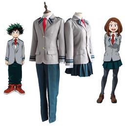 Laço uniforme da escola on-line-Escola Uniforme Herói Academia Traje Cosplay Casaco + Calça + Gravata Um Conjunto de Fantasias Anime