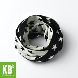 2017 KBB primavera nuovo stile inverno ufficio signore donne uomini filati maglia calda moda adulto sciarpe sciarpa stella bianca nera da