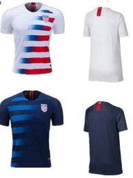 Wholesale Shirt Usa - Soccer Jerseys 2018 USA World Cup HOME Away Customized DEMPSEY DONOVAN BRADLEY PULISIC American Football Uniform Shirts United States Jersey
