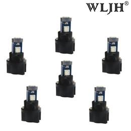 Wholesale Led Car Light Bulb Socket - WLJH Car T5 LED With Lamps Socket Car Twist Socket Dash Light Instrument Panel Cluster LED For BMW E36 E34 E32 E38 E31