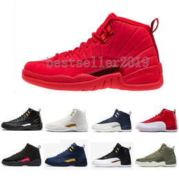 12 Gym Red 12s College Navy Mens scarpe da basket Michigan WINGS tori UNC  Flu Gioco il maestro nero bianco taxi Sport trainer sneakers economico ali  bianche 6887ec54f299