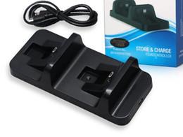 controlador de juego para ps2 Rebajas Estación de base de carga USB Dual inalámbrico Stand para Playstation 4 Tarjeta de control PS4 Game Black Charger para Dualshock 4 handle in