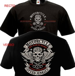 Helicóptero on-line-T-shirt MOTOCICLETA SPEED JUNKIES Motociclista Harley Davidson Indiano Motard MC