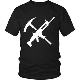 """tops trading Canada - Fortnite """"Tools of the Trade"""" T-Shirt Graphic Tee Cool Tops O Neck T Shirts for Men"""