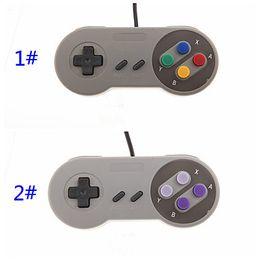 Super joystick online-Controlador de PC clásico USB Gamepad Joypad Joystick reemplazo para Super Nintendo SF para SNES NES Mac Tablet PC xv10 200pcs / lot