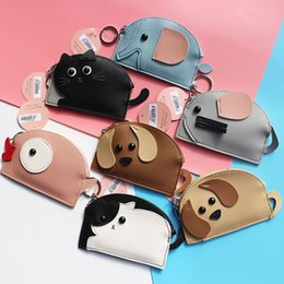 Wholesale Free Puppy Supplies - Party Favor Puppy Ear Cartoon Card Holder With Hanging Keychain Credit Card Coin Purse Holders Party Gift DHL Free WX9-294