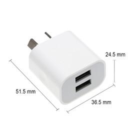 AU chargeur deux ports USB 2USB chargeur de téléphone mobile DC 5V 2A adaptateur de puissance de sortie utilisé pour iPhone iPad Samsung téléphone mobile HTC Tablet PC ? partir de fabricateur