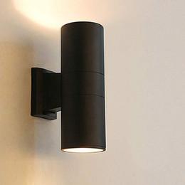 lámparas de pared rgb Rebajas Up Down LED Wall Light 3W 6W 9W 12W 18W 24W 24W Lámpara decorativa moderna al aire libre LED para Home Garden Hotel AC 85-265V
