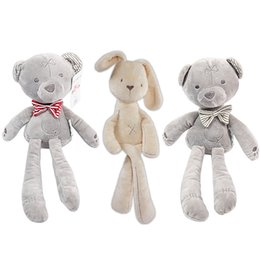 9922c7adf62 Kids Easter Rabbit Plush Toys Stuffed Animals Soft Bunny Bear Sleeping  Dolls Toddler Toys Kids Gifts Bear Plush Toys