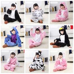 kinder tier onesie pyjamas Rabatt Unisex Kinder Panda Tierkostüm Kind-Plüsch-One Piece Pyjamas Tier Pyjamas Kinder Baby Body für Halloween Weihnachten