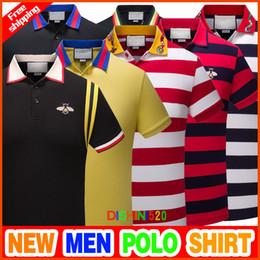 2018 Italie t-shirt de polo original marque de design Medusa broderie impression de crime de mode burlon Marcello qualité manches courtes hommes revers chemises ? partir de fabricateur