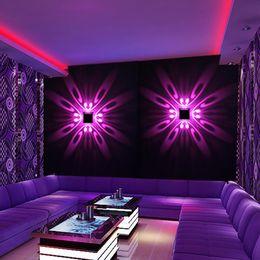 2019 spiegeln flure Moderne 3W LED Wandleuchte Schmetterling Up Down Fixture Licht Innenbeleuchtung Foyer Corridor Sofa Hintergrund Wandleuchten AC85-265V