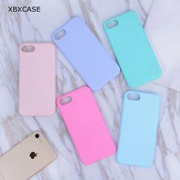 Iphone силиконовый чехол матовый онлайн-Конфеты Цвет ТПУ Резиновый силиконовый чехол для iPhone 7 7Plus Матовый матовый мягкий чехол Защитный чехол для iPhone 8 6 6S Plus