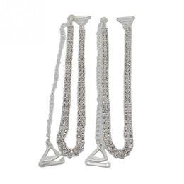 60b476ff2dfc6 1 Pair Women Clothing Intimates Adjustable Metal Double Row Bra Straps  Crystal Diamante Rhinestone Bra Shoulder Belt