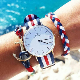 Wholesale Top Lady Nude - WD01 Top Brand Luxurt Men's watches New Fashion Women Watch 2018 Ladies Watches Nylon High Quality WD Brand Clock Hour