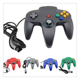 n64 controllers Coupons - 2018 For N64 System Game cube Long Handle Gamepad Wired Gamepad Joystick USB Controller Hot Sale