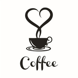 Wholesale Wall Stickers Coffee Decals - My House 20*12.5cm Wall paper Removable DIY Kitchen Decor Coffee Cup Decals Vinyl Mug Wall Sticker jun 14