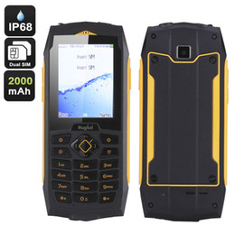 Wholesale Old Chinese Mobile - 2018 new original Rugtel R1 ip68 Rugged Mobile Phone 3G Wifi Waterproof Phone GSM old man Senior cell Phones Shockproof Russian Keyboard