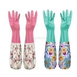 Wholesale Household Gloves Dishwashing - Durable Waterproof Household Glove Dishwashing Cleaning Rubber#T025#