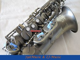 Wholesale Antique Bakelite - Eb Alto Saxophone Antique Surface High F# With-White Pearl Buttons