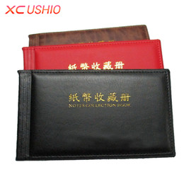Wholesale Currency Paper - Banknotes Paper Money Collection Book Money Album 60 pcs Pockets 30 Pages Paper Currency Album Storage Bag Book